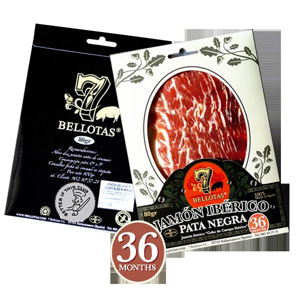 jambon pata negra tranché, jambon iberico espagnol